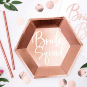 Assiettes Bride Squad 6 Pièces - The Wedding Shop !