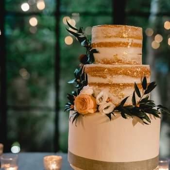 Inspiração para bolos de casamento de 3 andares | Créditos: Fina Cake Design