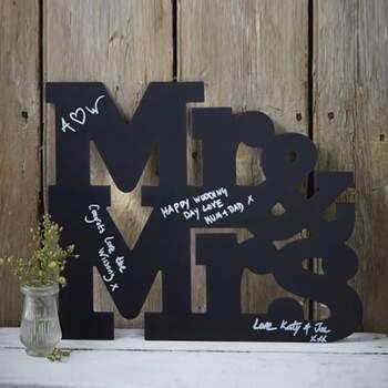 Livre D'or Blackboard Mr Et Mrs - The Wedding Shop !