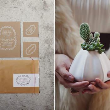 Une touche fraîche et délicate pour un mariage champêtre. Source : Green Wedding Shoes