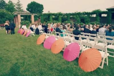 17 maneiras de usar sombrinhas na decoração do seu casamento!