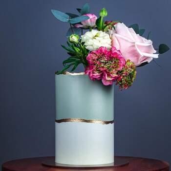 Foto: Misshavishamscakes - Pastel de bodas elegante