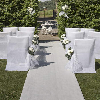 Alfombra De Boda Blanco - The Wedding Shop