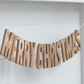 Guirnalda Merry Christmas Oro- Compra en The Wedding Shop