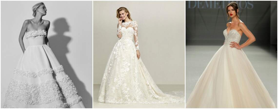 50 vestidos de novia corte princesa que querrás lucir ¡Elige el tuyo!