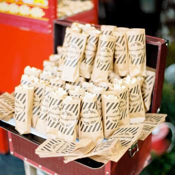 Bolsas de papel reciclado para las palomitas. Credits: Brancoprata
