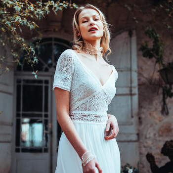 Photo : Guillaume Gilles - Elsa Gary, robe de mariée Etincelle