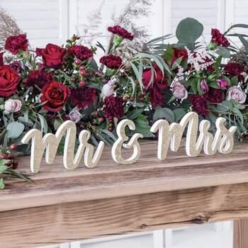 Lettres Mr E Mrs Paillettes Or - The Wedding Shop !