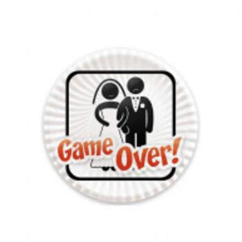 Assiettes Game Over 8 Pièces - The Wedding Shop !