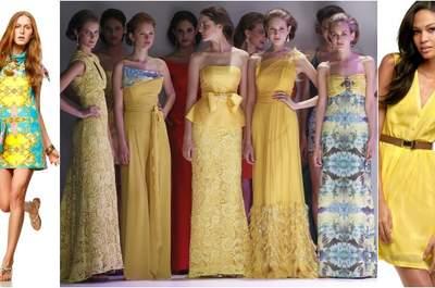 Une robe jaune comme tenue pour un mariage : top tendance