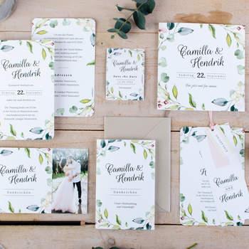 Hochzeitspapeterie Camilla und Hendrik