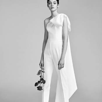 One Shoulder Bow Jumpsuit. Credits: Viktor and Rolf