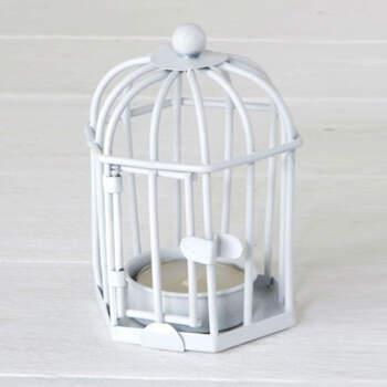 Portavelas blanco jaula- Compra en The Wedding Shop