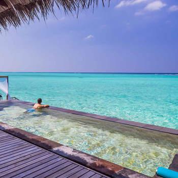 Depois de desfrutarem dos luxuriantes lagoas tropicais e infinitas praias de areia branca, seguiram para as Bahamas. Foto: One & Only Reethi Rah
