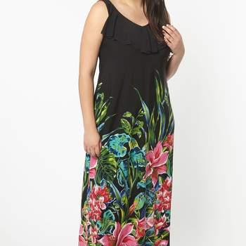 Credits: Black Tropical Print ITY Maxi Dress, Evans