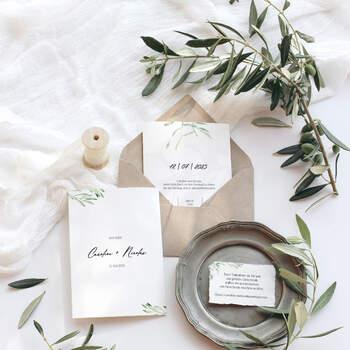 """Einladung Design """"Olive"""""""