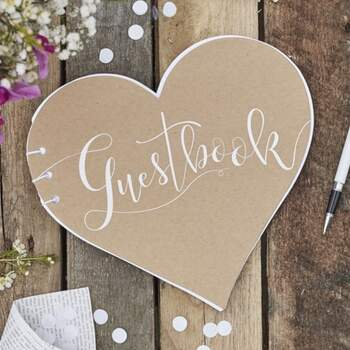 Livre D'or Cœur Rustique - The Wedding Shop !