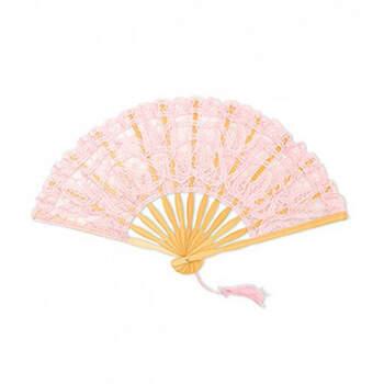 Abanico de encaje rosa- Compra en The Wedding Shop