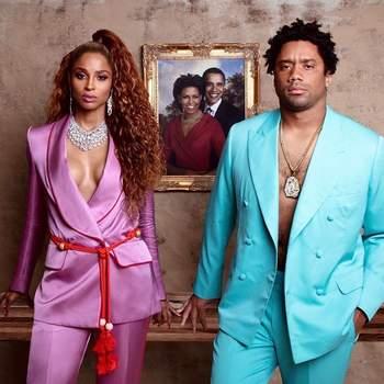 "Ciara e o marido Russell Wilson ( Beyoncé e Jay-z, no clipe de ""Apeshit""). Foto IG @ciara"