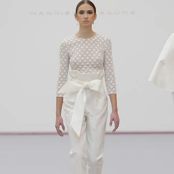 Hannibal Laguna. Credits:  Barcelona Bridal Fashion Week