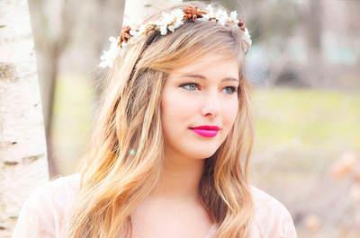 Coronas de flores para novias en bodas campestres