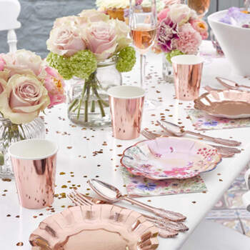 Vasos dulce rosa gold 8 unidades- Compra en The Wedding Shop
