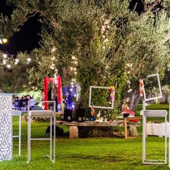 Il Giardino dei Pavoni: Negli spazi esterni le possibilità di allestimento sono infinite. Sfruttate al massimo ciò che la natura vi offre!