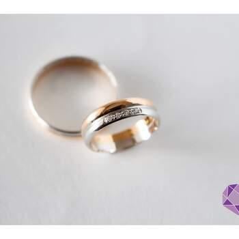 Minha Jóia Atelier - alianças em prata com brilhantes e aliança em ouro rosa (Vila do Conde)