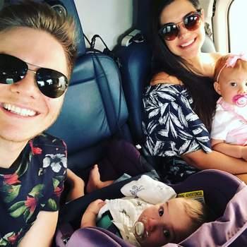 Michel Teló e Thais Fersoza foram pais de Teodoro. O menino nasceu a 25 de julho e é o segundo filho do cantor e da atriz. Foto via Instagram Michel Teló