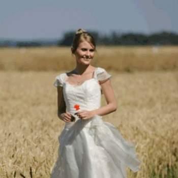Robe de mariée Lison, vue de face - Crédit photo: Catherine Varnier
