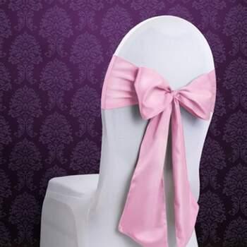 Rubans Pour Chaises Rose 10 Pièces - Achetez sur The Wedding Shop !