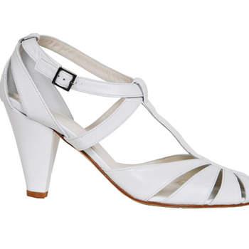 Chaussures de mariée blanches, modèle Doris, Ellips