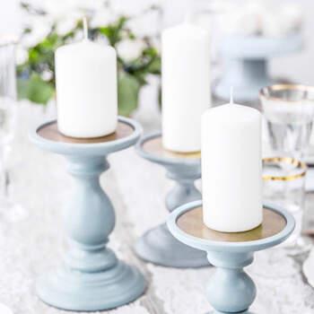 Vela Decorativa Blanca Opaco Medida 6 unidades - The Wedding Shop