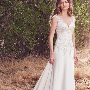 Hier wurden Orlando Satin verwendet, um ein außergewöhnliches Brautkleid zu kreieren.