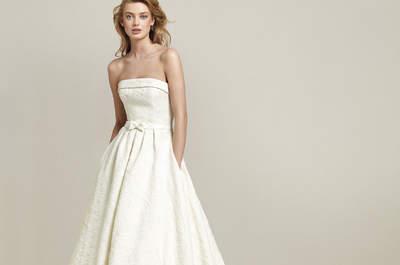 Vestidos de novia palabra de honor. ¡Un clásico que nunca pasa de moda!