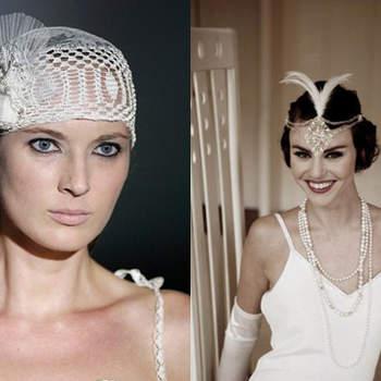 Sur la gauche coiffe de dentelle. Photo : matrimonio.pourfemme.it Et à droite, accessoires. Photo : confesionesdeunaboda.blogspot.com