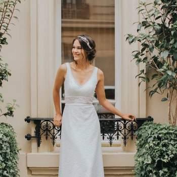 Robe de mariée vintage modèle Eglantine - Crédit photo: Elsa Gary