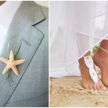 Foto: Beach Wedding via Thumblr& Barmine via Etsy