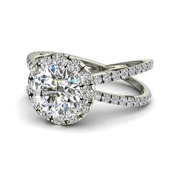 Photo : Diamants et Carats - Modèle Isabelle en or blanc