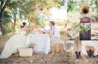 Una perfetta sessione fotografica Trash The Dress autunnale: l'ora del the!