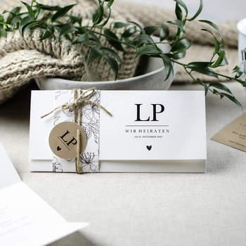 Hochzeitseinladung Lesely und Peter