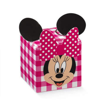 Caja cubo minnie fiesta disney rosa 10 unidades - Compra en The Wedding Shop