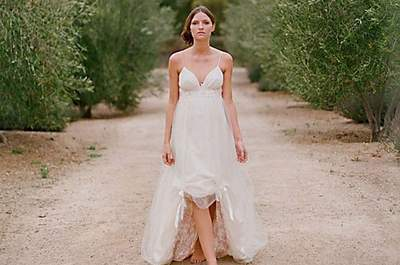 Vestido de noiva para casar na praia: Amelie, de Claire Pettibone