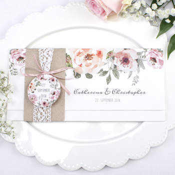 Hochzeitseinladung Catherina und Christopher