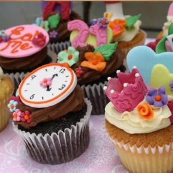 Des cupcakes vintage version Alice au Pays des Merveilles par Yorkshirepantry