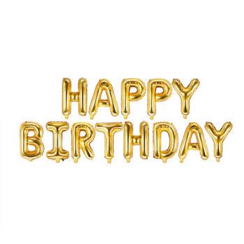 Globo Happy Birthday oro- Compra en The Wedding Shop