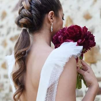 Pentado para noiva com trança embutida   Foto: Sara Instyle