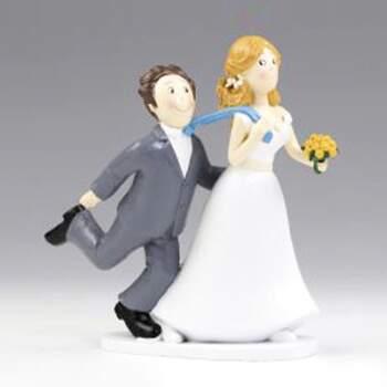 Cake Topper Je Te Tire Par La Cravate - The Wedding Shop !