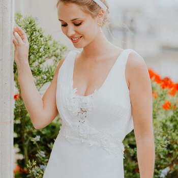 Robe de mariée la Parisienne modèle Léa - Crédit photo: Elsa Gary