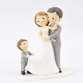 Cake Topper Conjonts Avec Un Enfant - The Wedding Shop !